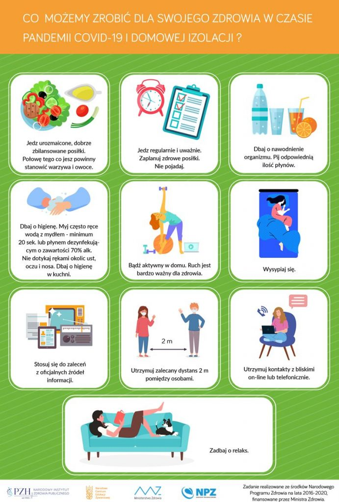 Zasady zdrowego stylu życia w czasie pandemii