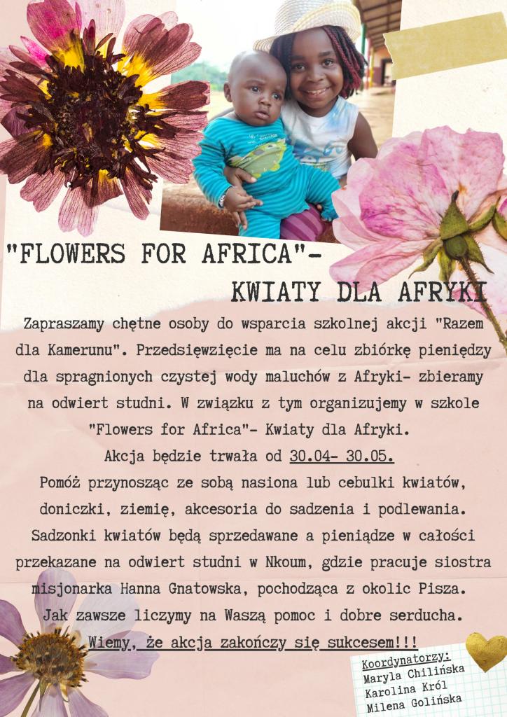"""""""FLOWERS FOR AFRICA"""" – KWIATY DLA AFRYKI"""