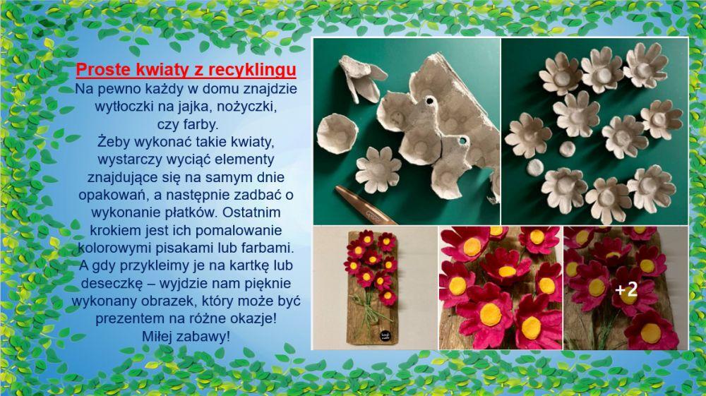 Proste kwiaty z recyklingu