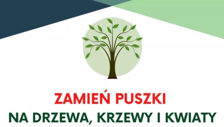 Zamień puszki na drzewa, krzewy i kwiaty dla Szkoły Podstawowej nr 2 w Piszu
